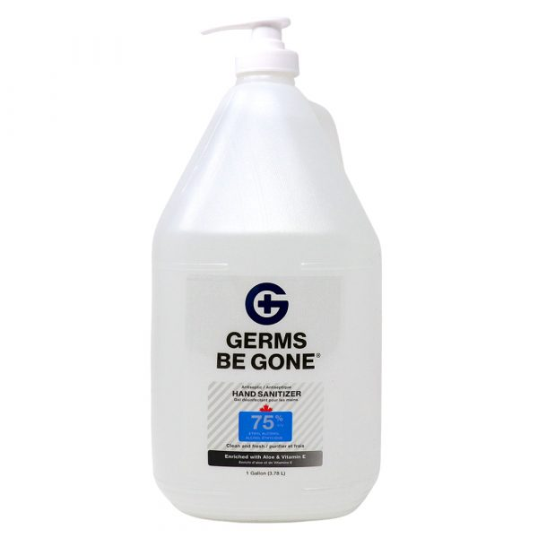 Germs Be Gone 75% Alcohol – 3.78 Litre Jug