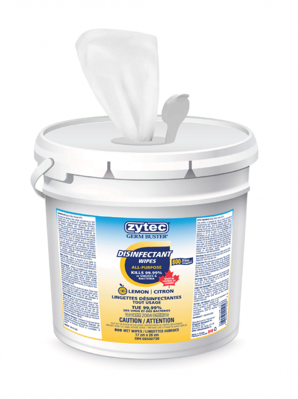 Zytec® Germ Buster™ Disinfectant Wipes - 800 Wipes